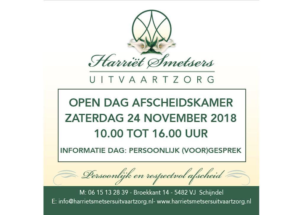 Zaterdag 24 november open dag afscheidskamer 't Broek te Schijndel
